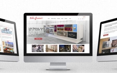 Diseño de página web de Lola Glamour