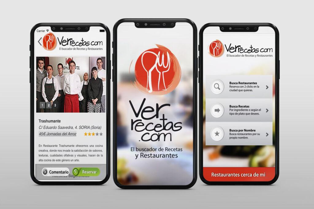 Aplicación móvil Ver Recetas