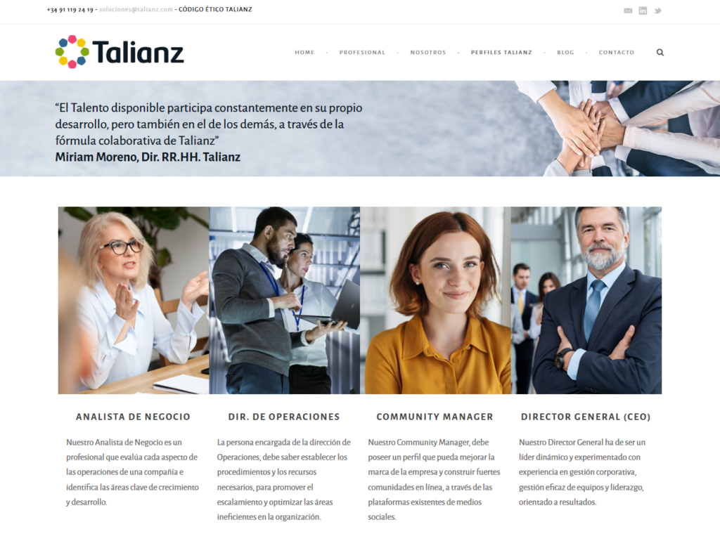 Diseño de páginas web profesionales en Madrid, Soria y Salamanca