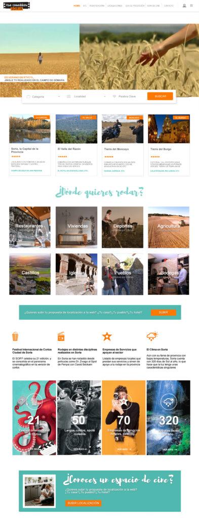 Diseño para página web Film Comission Soria