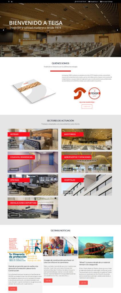 Diseño de páginas web para empresas en Soria y Madrid