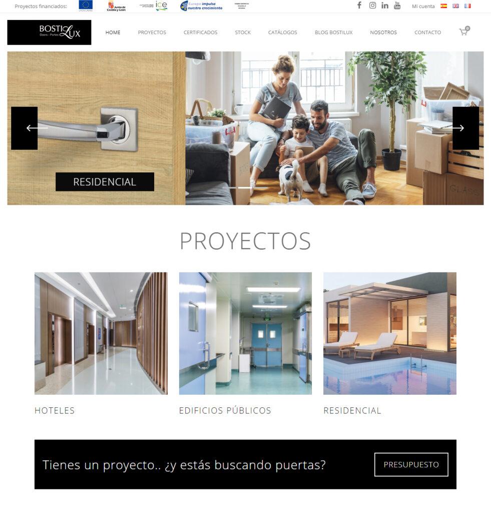 Página web Bostilux