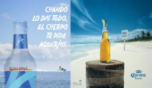 Aquarius y Corona Refresco y Cerveza Anuncios de Verano Spk Comunicacion Madrid Soria y Salamanca