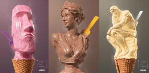 Heladería Artesanal Esculturas Spk Comunicación Madrid Salamanca Soria